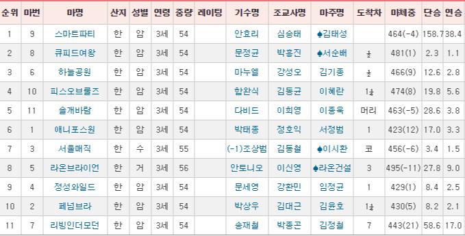 경주성적표20190622 한국마사회 토요경마 2만배 고배당의 주인공 미녀기수 안효리 인터뷰