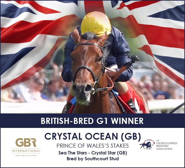 CRYSTAL OCEAN GB wins the Gr.1 Prince Of Wales's Stakes [해외경마] 영국 로열애스콧 Prince of Waless Stakes 결과 Crystal Ocean 우승