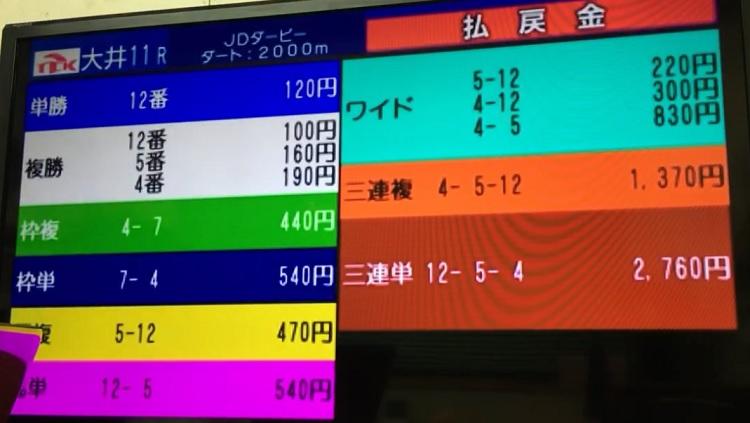 Japan Dirt Derby odds 일본지방경마 도쿄 오오이 경마장 재팬더트더비 경마예상 및 결과