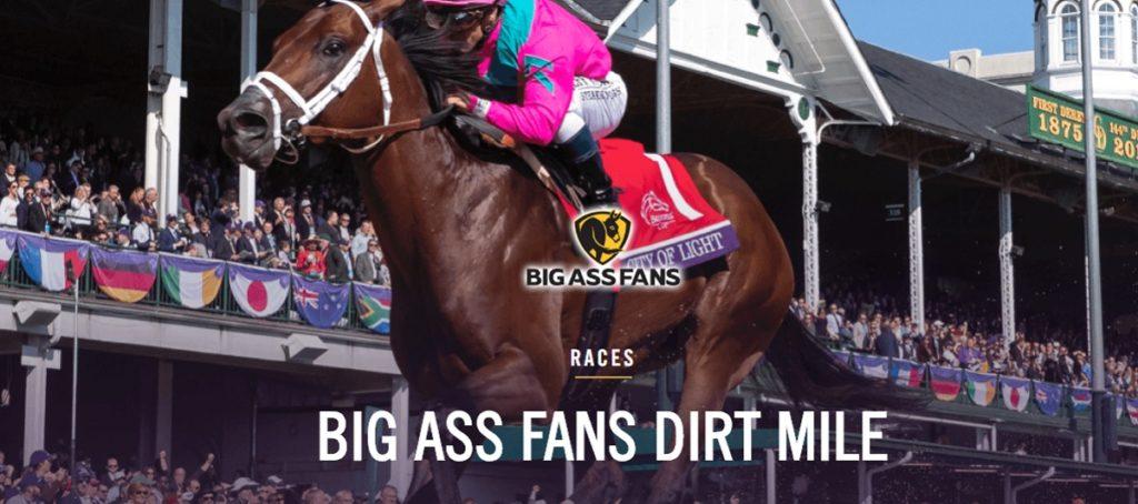 BIG ASS FANS DIRT MILE 1024x454 한국마사회 블루치퍼, 경마올림픽 브리더스컵 더트마일(Dirt Mile) 출전