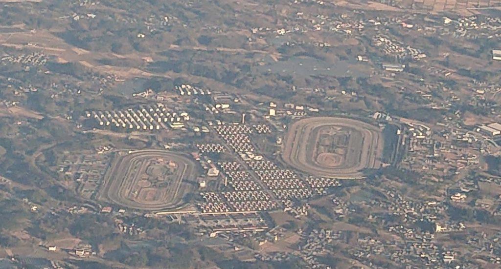 Miho Training Center skyview 1024x551 일본중앙경마 간토지방 경주마 조교장 미호(美浦) 트레이닝센터