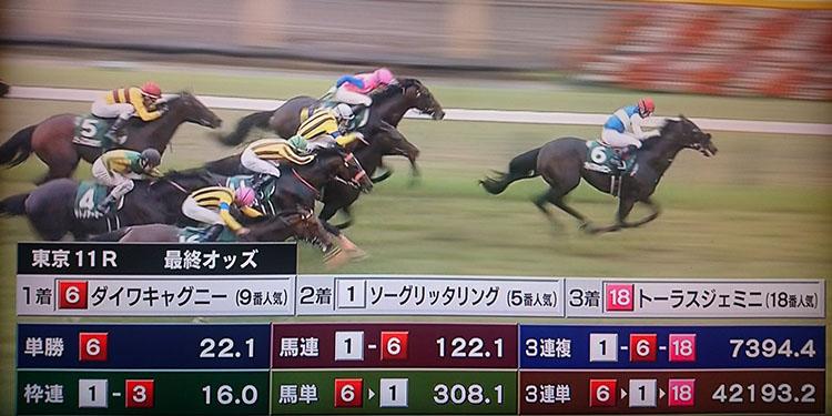 Epsom Cup result 일본중앙경마 도쿄경마장 이변 속출! 엡섬컵 삼쌍승식 4만배 로또마권