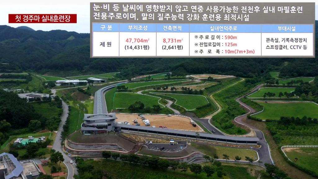 실내언덕주로 1024x577 한국마사회 장수목장에 경주마 실내훈련시설 언덕주로 개장