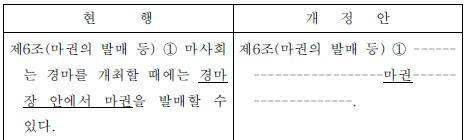 한국마사회법 개정안 커뮤니티
