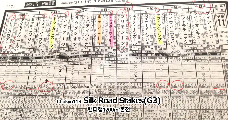 0131 주쿄11 실크로드 일본 JRA 주쿄경마장 실크로드 스테익스(Silk Road Stakes, G3) Shivaji