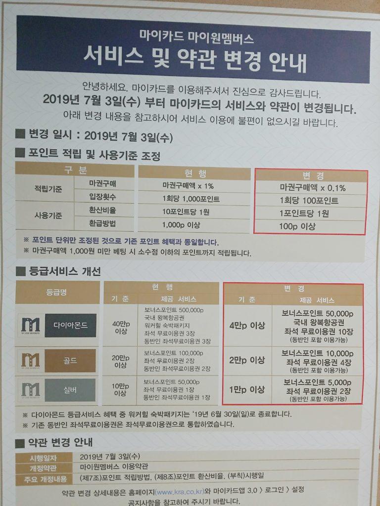 2019 06 15 11 46 54 768x1024 한국마사회 마이카드 약관변경! 포인트 적립비율 조정
