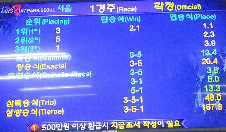 경마배당판 성적 서울 부산 경마결과(배당률) 및 경주동영상 2019.7.5~7