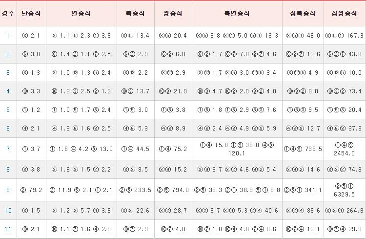 일요경마결과190707 서울 부산 경마결과(배당률) 및 경주동영상 2019.7.5~7