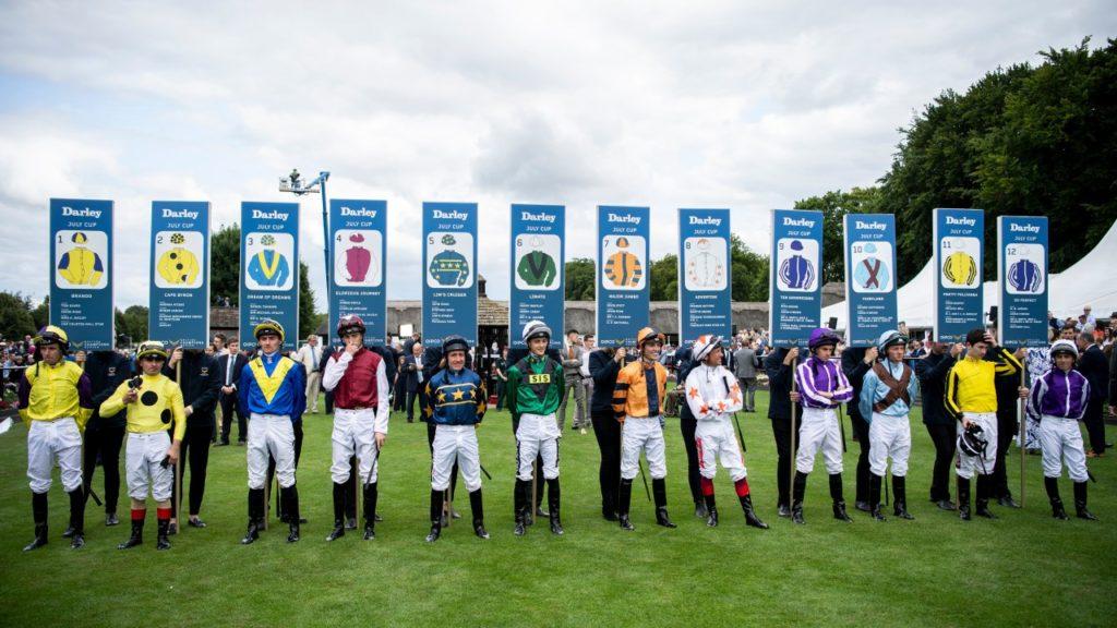 Jockeys 1024x576 [영국경마] 뉴마켓 페스티벌 단거리 줄라이컵(July Cup) Ten Sovereigns 우승