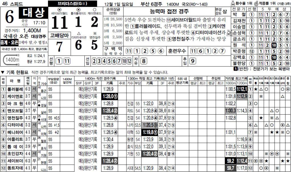 브리더스컵 스피드경마예상지 1024x605 부산경마장 2세마 챔피언전 브리더스컵과 서울 11R 파이널 역전 경마예상