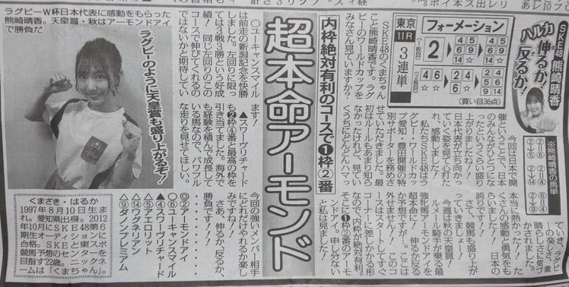쿠마자키 하루카 경마예상 일본 아이돌 쿠마자키 하루카의 돌직구! 아리마기념, 아몬드아이를 이길수 있나요?