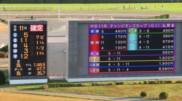 Champions Cup odds 일본 G1 더트 경마대회 챔피언스컵 3세마 크리소베릴 무패의 6연승