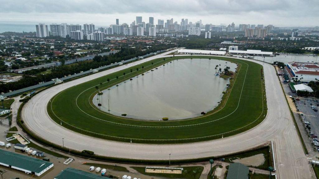 Gulf Stream racing 1024x575 페가수스월드컵 개최 미국 할렌데일비치 걸프스트림파크 경마장 폭우로 침수
