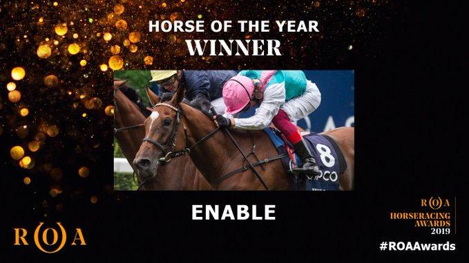 Horse of the Year 영국경마 최우수 조교사 존고스덴, Enable은 마주협회(ROA) 연도대표마 수상