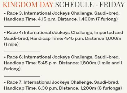 saudi International Jockeys Challenge plan 사우디컵 이브 국제기수대항전 경마결과 변경! 여성기수 사우디경마 최초 우승