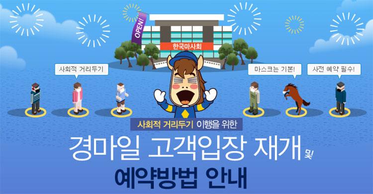 경마장입장재개 마사회 인원제한 경마장 부분 입장 연기! 마이카드앱 예약방법