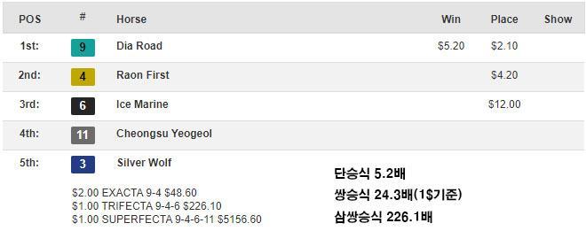 Ttukseom Cup odds 서울경마공원 퀸즈투어 시리즈 뚝섬배, 김용근 기수의 다이아로드 5연승