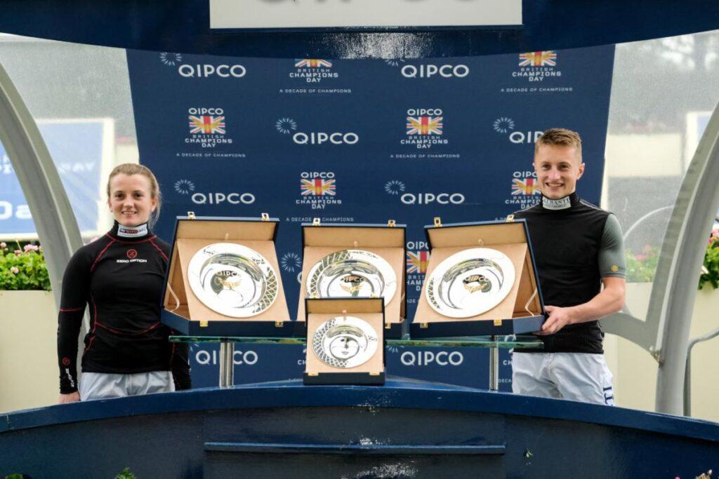 Holie and Tom  영국 여성기수 홀리도일(Hollie Doyle)과 남친, 브리티시 챔피언스 데이 대상경주 2연승