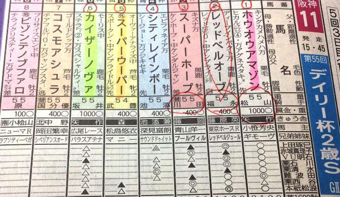 Daily Hai Nisai Stakes yoso 일본 한신경마장 데일리배 2세 스테익스(Daily Hai Nisai Stakes)