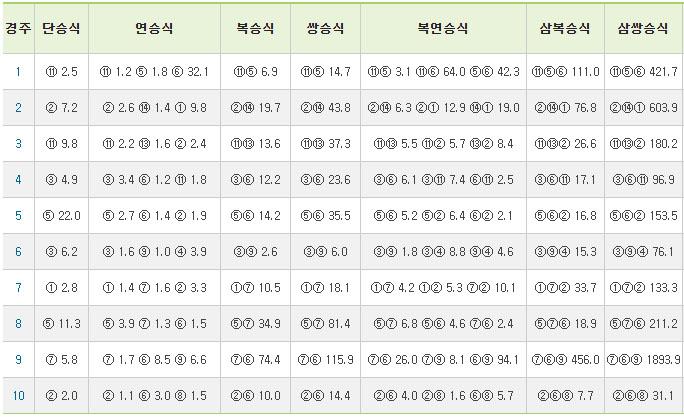 부산경마성적표0313 13일 부산경마 결과 등급별 신기록 속출! 최강쏜살, 두바이특급