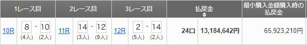 oi triple umatan 일본 오이경마 쌍승식, 묶음쌍식 최고 배당! 로또마권 3일 연속 이월
