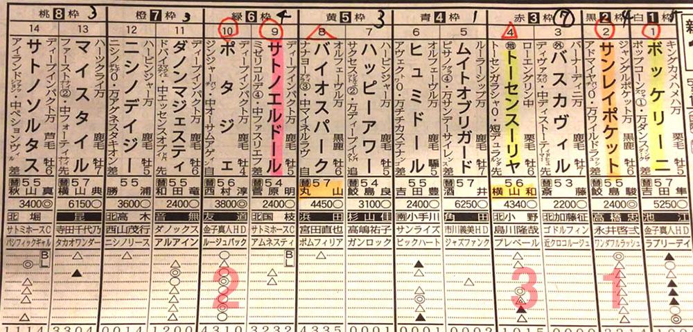 新潟大賞典 일본 JRA 니가타경마장 니이가타대상전(新潟大賞典) Sanrei Pocket