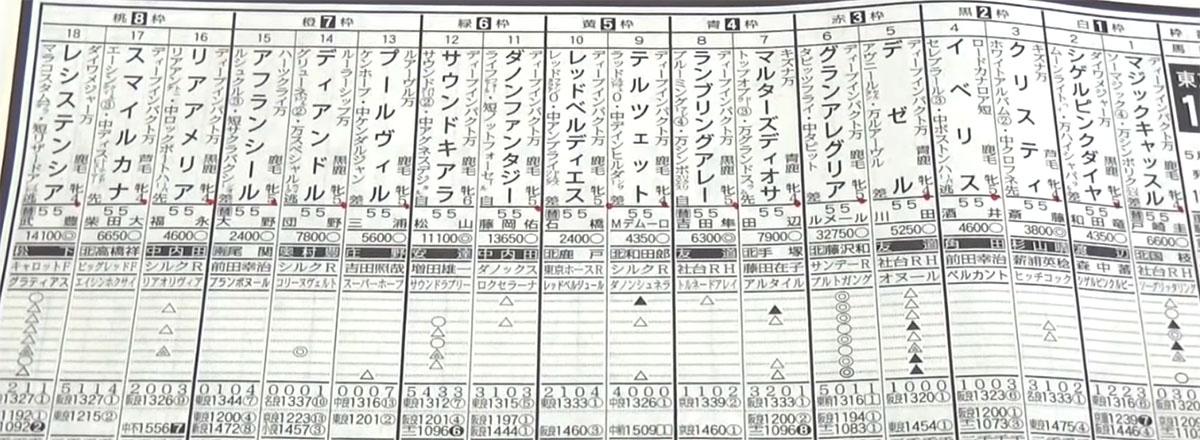 ヴィクトリアマイル予想 일본 JRA 도쿄경마장 암말 챔피언전 빅토리아마일(G1)